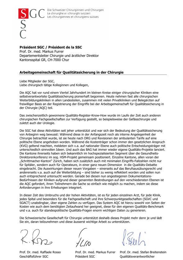 Télécopie de la lettre de soutien de la SSC 2017